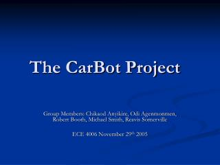The CarBot Project