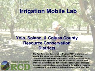 Irrigation Mobile Lab