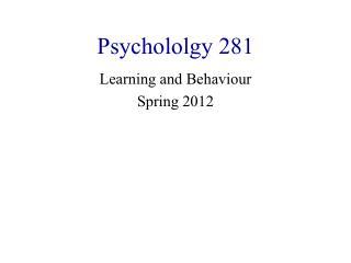 Psychololgy 281