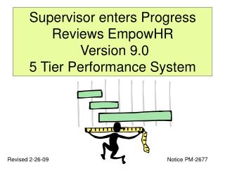 Supervisor enters Progress Reviews EmpowHR  Version 9.0 5 Tier Performance System