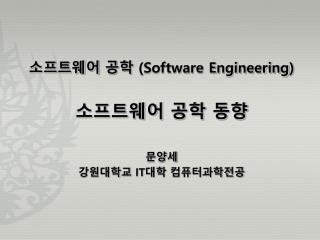 ????? ??  (Software Engineering ) ????? ?? ?? ??? ?????  IT ?? ???????