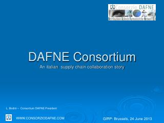 DAFNE Consortium An  italian   supply chain collaboration story