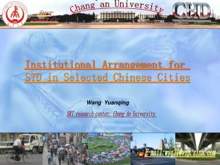 Institutional Arrangement for  STD in Selected Chinese Cities