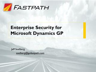 Enterprise Security for Microsoft Dynamics GP