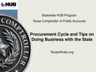 Procurement Cycle and Tips on Doing Business with the State