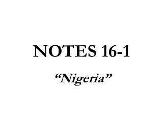 NOTES 16-1