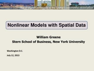 Nonlinear Models with Spatial Data