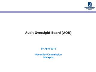 Audit Oversight Board (AOB)