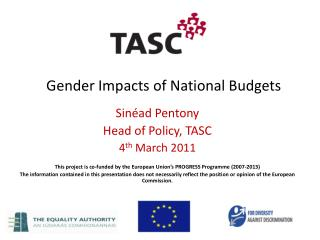Gender Impacts of National Budgets