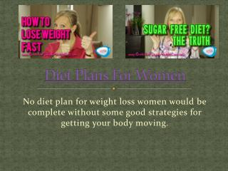 Diet For Weight Loss Women