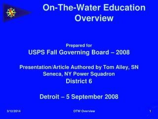 On-The-Water Education Overview