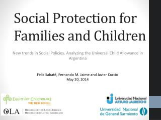Social Protection for Families and Children