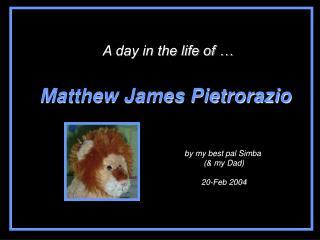 Matthew James Pietrorazio