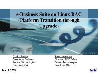 e-Business Suite on Linux RAC (Platform Transition through Upgrade)