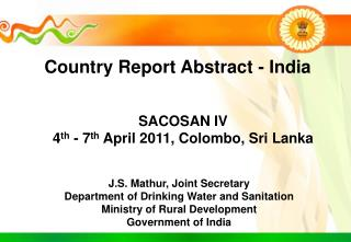 Country Report Abstract - India