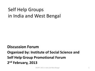 Self Help Groups  in India and West Bengal