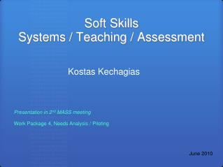 Soft Skills Systems / Teaching / Assessment