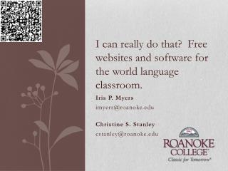 I can really do that?  Free websites and software for the world language classroom.