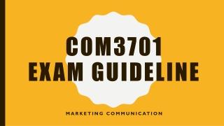 Com3701 exam guideline
