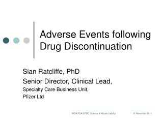 Adverse Events following Drug Discontinuation