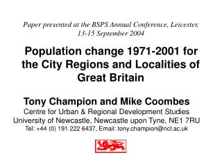 Paper presented at the BSPS Annual Conference, Leicester,  13-15 September 2004