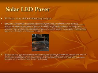 Using Solar Paver Lights Is The Innovative Way To Brighten U