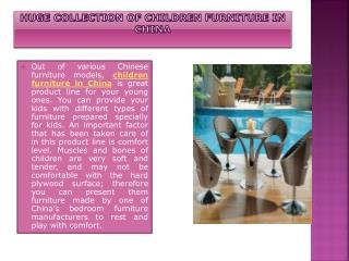 Children Furniture in China