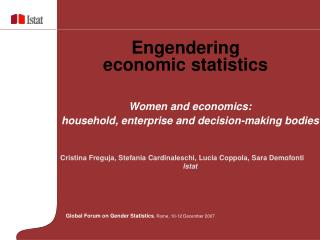 Engendering  economic statistics