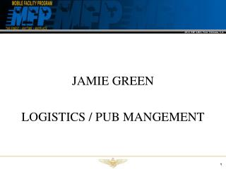 JAMIE GREEN LOGISTICS / PUB MANGEMENT