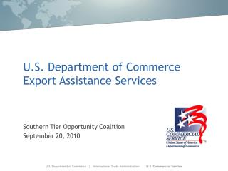 U.S. Department of Commerce Export Assistance Services