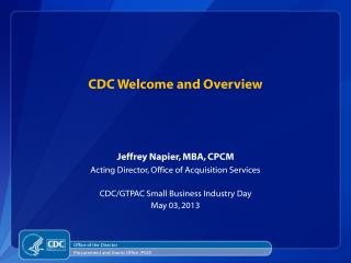 CDC Welcome and Overview