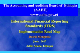 The Accounting and Auditing Board of Ethiopia (AABE) aabe.et