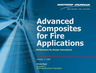 Advanced Composites for Fire Applications