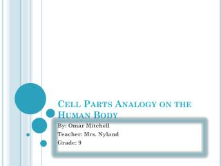 Cell Parts Analogy on the Human Body