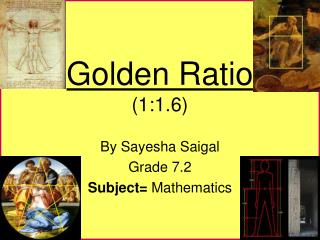 Golden Ratio (1:1.6)