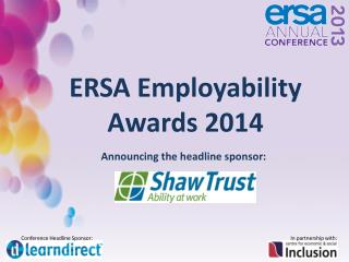 ERSA Employability Awards 2014