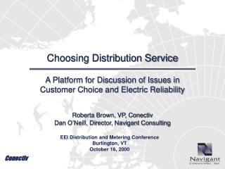 Choosing Distribution Service
