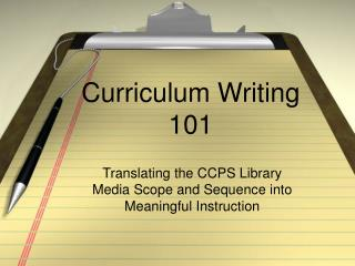 Curriculum Writing 101