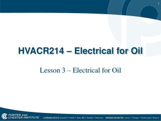 HVACR214 – Electrical for Oil