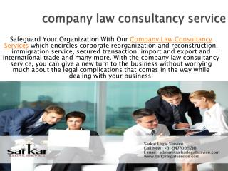 Kolkata Law Firms - Corporate Law Firm - Sarkar Legal Servic