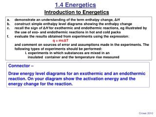 1.4 Energetics