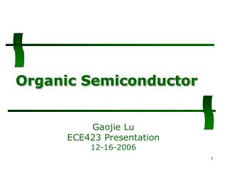 Organic Semiconductor