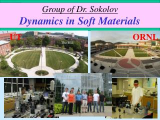 Group of Dr. Sokolov Dynamics in Soft Materials