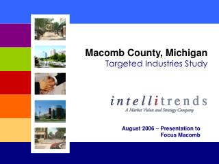 Macomb County, Michigan Targeted Industries Study