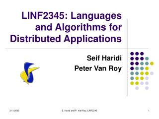 LINF2345: Languages and Algorithms for Distributed Applications