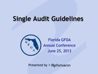 Single  Audit Guidelines