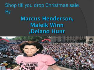 Shop till you drop Christmas sale By