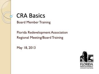 CRA Basics