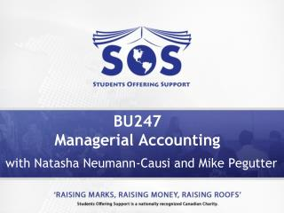 BU247  Managerial Accounting