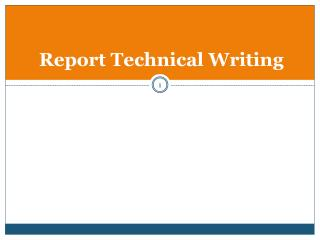 Report Technical Writing